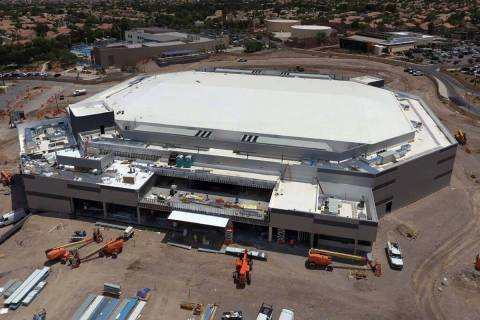 Work on the Dollar Loan Center in Henderson continues, on Thursday, July 22, 2021, in Henderson ...