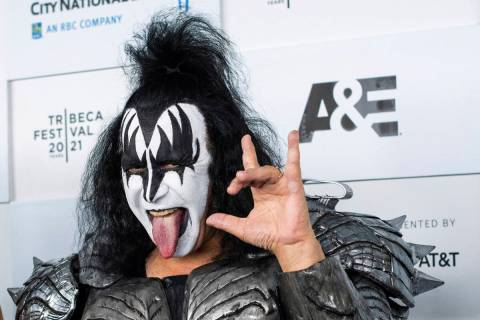 """Gene Simmons from the band Kiss attends the premiere of A&E Network's """"Biography: KISS ..."""