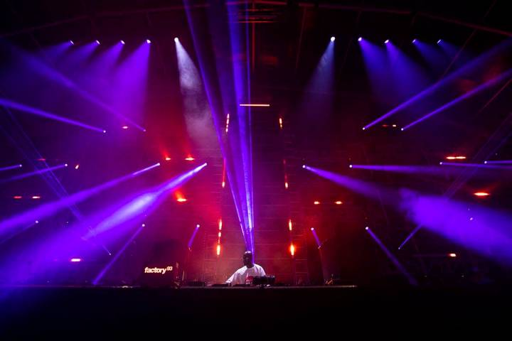 Black Coffee performs at the Neon Garden stage during the final day of the Electric Daisy Carni ...