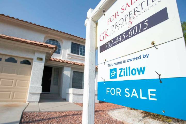 A house in Las Vegas that was owned by Zillow is seen in this Aug. 10, 2018, file photo. (Las V ...