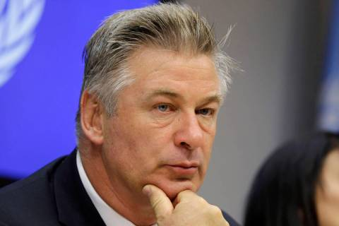 In this Sept. 21, 2015 file photo, actor Alec Baldwin attends a news conference at United Natio ...