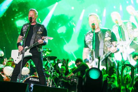 James Hetfield of Metallica performs at the main stage during the Rock in Rio USA music festiva ...
