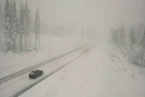 In this image taken from video from a Caltrans remote video traffic camera, very light traffic ...