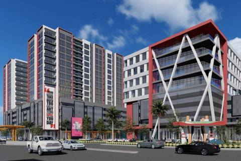 G2 Capital Development plans to build a mixed-use project near UNLV, a rendering of which is se ...